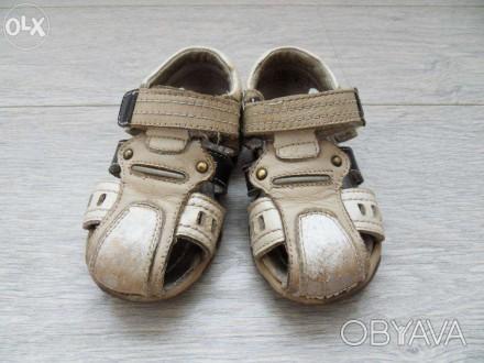 Детские босоножки, полностью 100% кожа, производитель канада, носил один ребёнок. Лубны, Полтавская область. фото 1