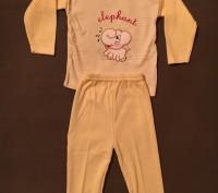 Костюмчик - пижамка розовая для девочки 3 - 9 мес 100% хлопок. Киев, Киевская область. фото 3
