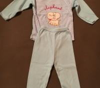 Костюмчик - пижамка розовая для девочки 3 - 9 мес 100% хлопок. Киев, Киевская область. фото 4