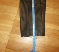 Кожаные брюки пошиты в форме джинсов. Куплены в Германии для езды на мотоцикле.Н. Винница, Винницкая область. фото 7