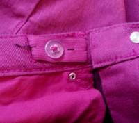 Джинсы. Skinny / Slim fit  H&M на 11-12 лет, рост 152 см. Цвет серенево-розовый.. Сумы, Сумская область. фото 5