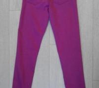 Джинсы. Skinny / Slim fit  H&M на 11-12 лет, рост 152 см. Цвет серенево-розовый.. Сумы, Сумская область. фото 4