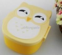 Удобный контейнер для обедов Сова   с ложечкой в комплекте.  Это глубокий пище. Львов, Львовская область. фото 3