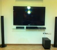 Повесить телевизор LED на стену.монтаж телевизора с креплением на стенуСпутникТВ. Черкассы. фото 1