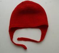 Красная шапочка ручной вязки (крючком).. Киев. фото 1