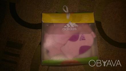 Оригинальная шапочка и варежки Adidas для маленькой модницы.. Львов, Львовская область. фото 1