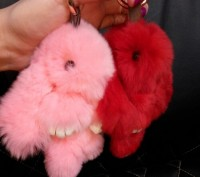 Хит 2016 года во всем мире – брелок меховой кролик ! Казалось бы, такой незатейл. Полтава, Полтавская область. фото 3