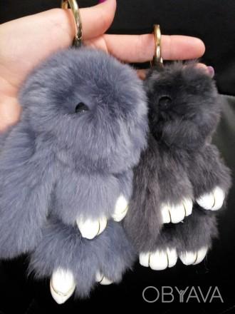 Хит 2016 года во всем мире – брелок меховой кролик ! Казалось бы, такой незатейл. Полтава, Полтавская область. фото 1