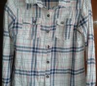 Рубашка Next клетчатая для девочки 12 лет. Рост 152 см. Длина от плеча  - 53 см,. Киев, Киевская область. фото 2