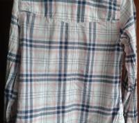 Рубашка Next клетчатая для девочки 12 лет. Рост 152 см. Длина от плеча  - 53 см,. Киев, Киевская область. фото 3