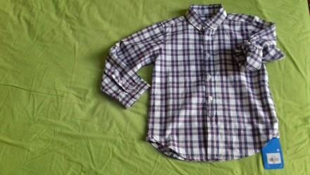 Дитяча фірмова нова сорочка в клітинку для хлопчика 4-5 років. Гарний фасон і ві. Львов, Львовская область. фото 2