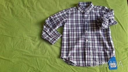 Дитяча фірмова нова сорочка в клітинку для хлопчика 4-5 років. Гарний фасон і ві. Львов, Львовская область. фото 1