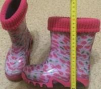 Продам стильные резиновые сапожки на девочку kids demar, на утеплителе, в отличн. Днепр, Днепропетровская область. фото 7