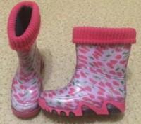 Продам стильные резиновые сапожки на девочку kids demar, на утеплителе, в отличн. Днепр, Днепропетровская область. фото 4