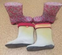 Продам стильные резиновые сапожки на девочку kids demar, на утеплителе, в отличн. Днепр, Днепропетровская область. фото 3
