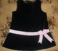 Чорна сукня велюрова на дівчинку 2-3 р.. Полтава. фото 1