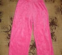 Штани велюрові рожеві на дівчинку. Полтава. фото 1