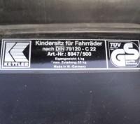 сидение для перевозки ребёнка .привезено из Германии. очень легко крепится к баг. Киев, Киевская область. фото 5