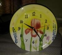 Продам фарфоровий годинник, стан відмінний! Працює від однієї батарейки. Діаметр. Дрогобыч, Львовская область. фото 2