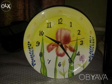 Продам фарфоровий годинник, стан відмінний! Працює від однієї батарейки. Діаметр. Дрогобыч, Львовская область. фото 1