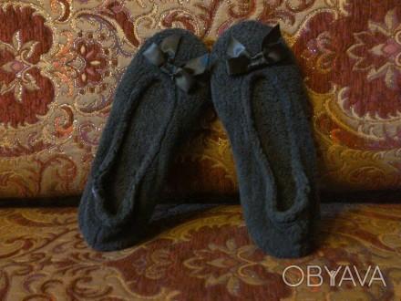 Тапочки-балетки чорного кольору, еластичні, мякі, стильні, розмір 36-37, довж по. Львов, Львовская область. фото 1
