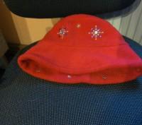 флісова шапочка-капелюшок зі сніжинками. Львов. фото 1