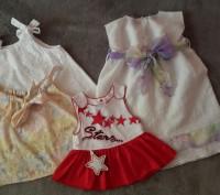 Комплект летней одежды для девочки,платье,сарафан,майка. Светловодск. фото 1
