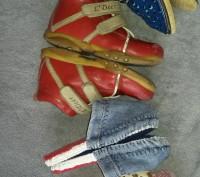 Комплект обуви . Ботинки L'Deer,тапочки ,шлёпанцы. Красные ботинки р.23,тапки . Светловодск, Кировоградская область. фото 6