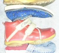 Комплект обуви . Ботинки L'Deer,тапочки ,шлёпанцы. Красные ботинки р.23,тапки . Светловодск, Кировоградская область. фото 3