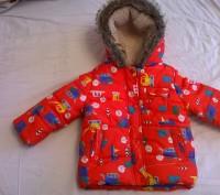 продам курточку с капюшоном   для мальчика 1 - 1,5годика в отличном состоянии. Киев, Киевская область. фото 2