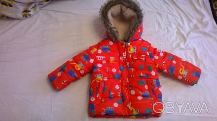 продам курточку с капюшоном   для мальчика 1 - 1,5годика в отличном состоянии. Киев, Киевская область. фото 1