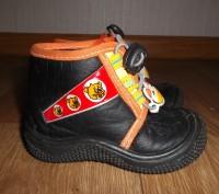 Мокасины-ботиночки для мальчика,черного цвета с аппликацией резиновый мишка .Стр. Конотоп, Сумская область. фото 3