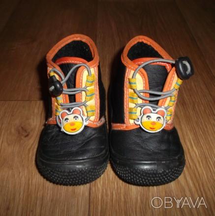 Мокасины-ботиночки для мальчика,черного цвета с аппликацией резиновый мишка .Стр. Конотоп, Сумская область. фото 1