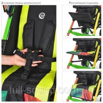 функциональная прогулочная коляска с облегченной рамой, выполнена из экологическ. Одесса, Одесская область. фото 4