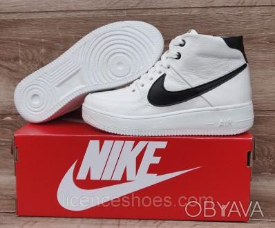 Подростковые, детские зимние ботинки кроссовки Nike Air Force White/Black 41 - с