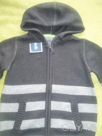 Новий светер з капішоном для хлопчика 5 років США , светрик заказували з сайту д. Львов, Львовская область. фото 1