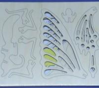 Конструктор 3д из дерева на пластинах Бабочка лазерная резка собственное произво. Одесса, Одесская область. фото 3