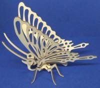 Конструктор 3д из дерева на пластинах Бабочка лазерная резка собственное произво. Одесса, Одесская область. фото 4