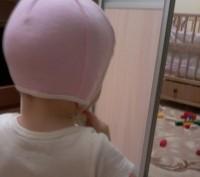 Шапка рожева біла від 6 - 12 місяців .Стан ідеальний.Добре фіксує голову дитини.. Львов, Львовская область. фото 2