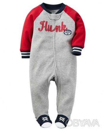 Коттоновая пижамка (человечек) Carters для мальчика  размер 6мес., рост 61-67см. Запорожье, Запорожская область. фото 1