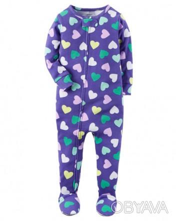Коттоновая пижамка Carters для девочки 18 мес. Рост 78-83 см, вес 11,1-12,4кг.. Запорожье, Запорожская область. фото 1