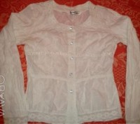 Белая блузка Flower garden с вышивкой. Київ. фото 1
