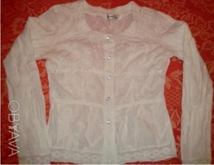 Белая блузка Flower garden с вышивкой