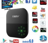 T95V Pro s912 2 G/16G Android 6.0 smart tv box смарт тв приставка t95z. Киев. фото 1