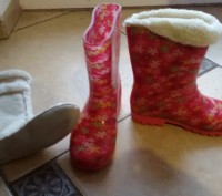 чоботи гумові з теплою шкарпеткою, що вкладається, привокзальна, самовивіз.. Львов, Львовская область. фото 2