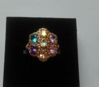 Шикарное кольцо 16,5 размер. Винница. фото 1
