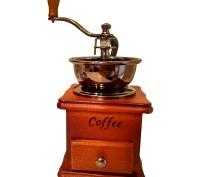Кофемолка ручная деревянная. Сумы. фото 1