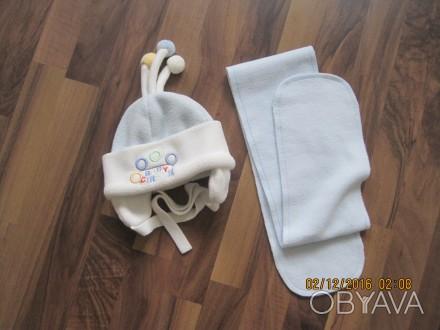 шапочка + шарфик , материал флис , подкладка х\б , шапочка теплая. Черкассы, Черкасская область. фото 1