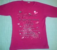 Малиновая футболка для девочки 9-11 лет. Киев. фото 1
