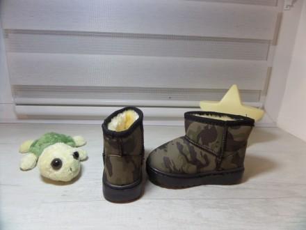 Детские угги цвета хаки Смотрятся очень классно и стильно на ножке вашего малыш. Київ, Киевская область. фото 3